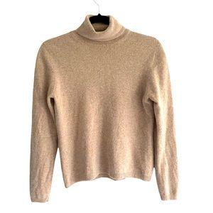 CROFT & BARROW Cashmere Turtleneck Long Sleeve Sweater Camel XS/S